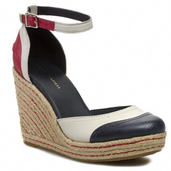 Sandals TOMMY HILFIGER - Emery 49A FW56816614 Persian Red/Eggnog/Midnight 639
