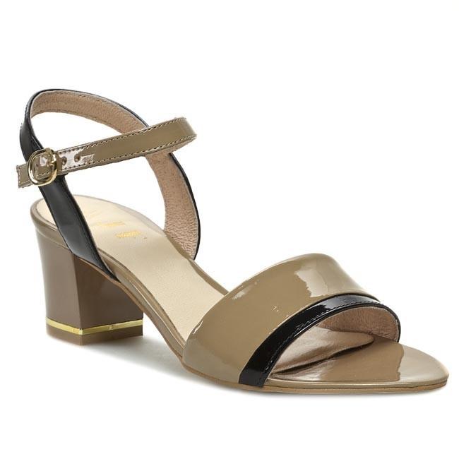 Sandals A.J.F. - G0694 Beige Black