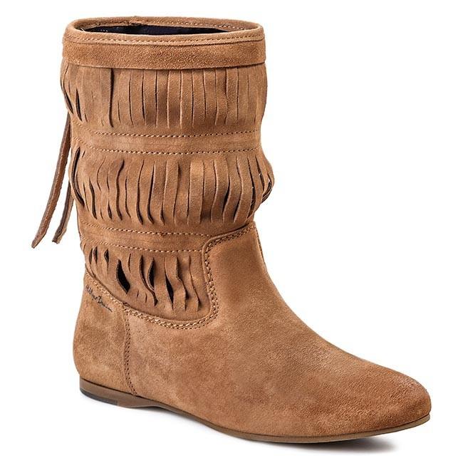 Knee High Boots TOMMY HILFIGER - EN56817066 Summer Cognac 929