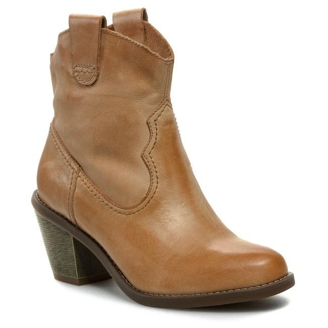 Boots CLARKS - Midnight Angel 203586174 Dark Tan Leather