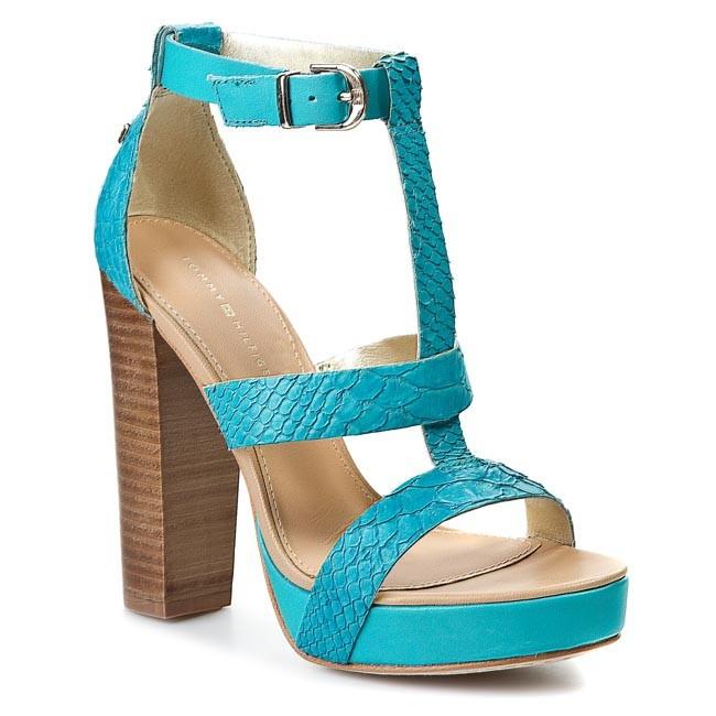 Sandals TOMMY HILFIGER - Ashley 12Z FW56817244 Torquoise 463