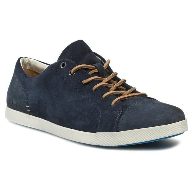 Shoes CLARKS - Nadon Mix 203577707 Navy Combi Suede