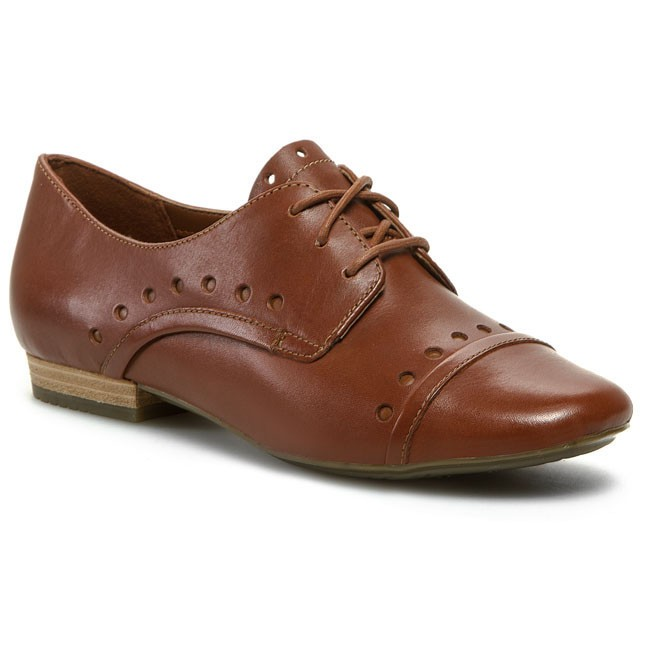 Oxfords CLARKS - Henderson Lady 203576864 Dark Tan Leather
