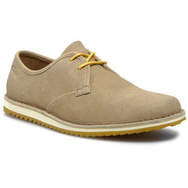 Shoes CLARKS - Maxim Flow 203579937 Natural Nubuck