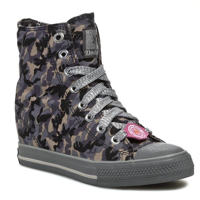 Sneakers SKECHERS - Army Brat 39115/GYBK Gray/Black