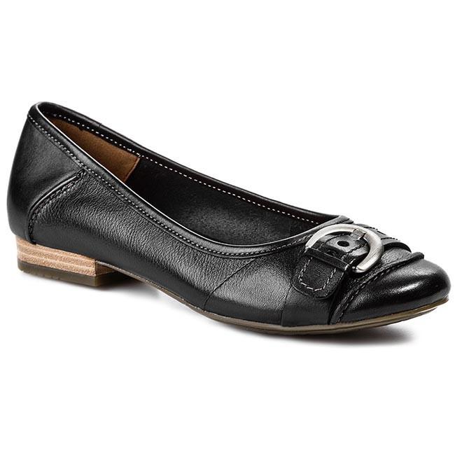 Flats CLARKS - Henderson Ice 203566914 Black Leather