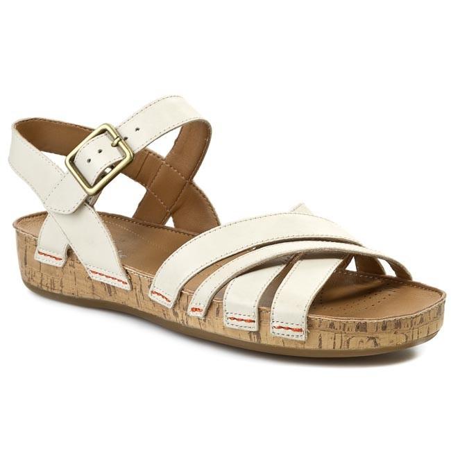 Sandals CLARKS - Raspberry Jam 203590554 Cotton Leather