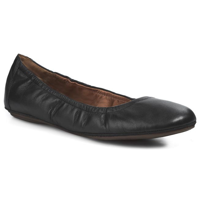 Flats CLARKS - Grayson Marie 203582034 Black Leather