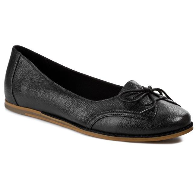 Flats CLARKS - Glitter Quartz 203589634 Black Leather
