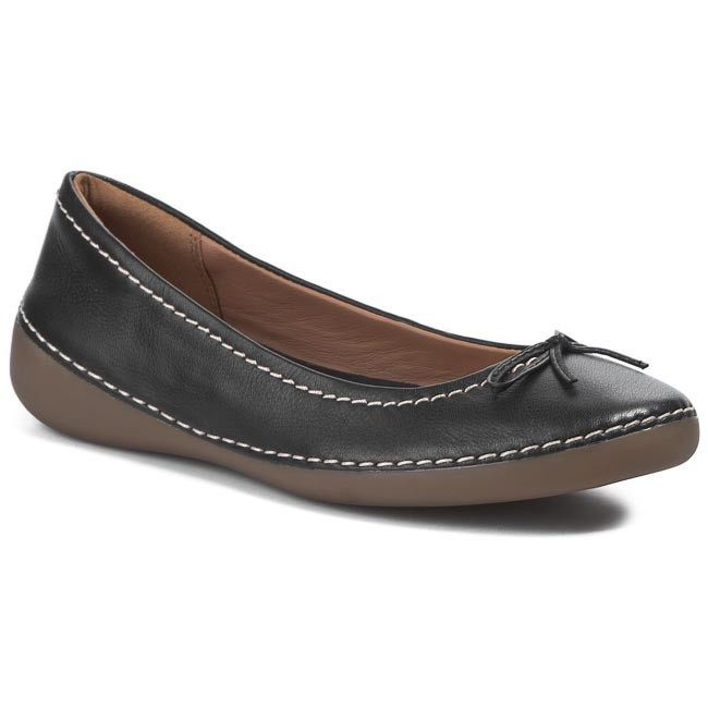 Flats CLARKS - Fashion Icon 203537574 Black Leather