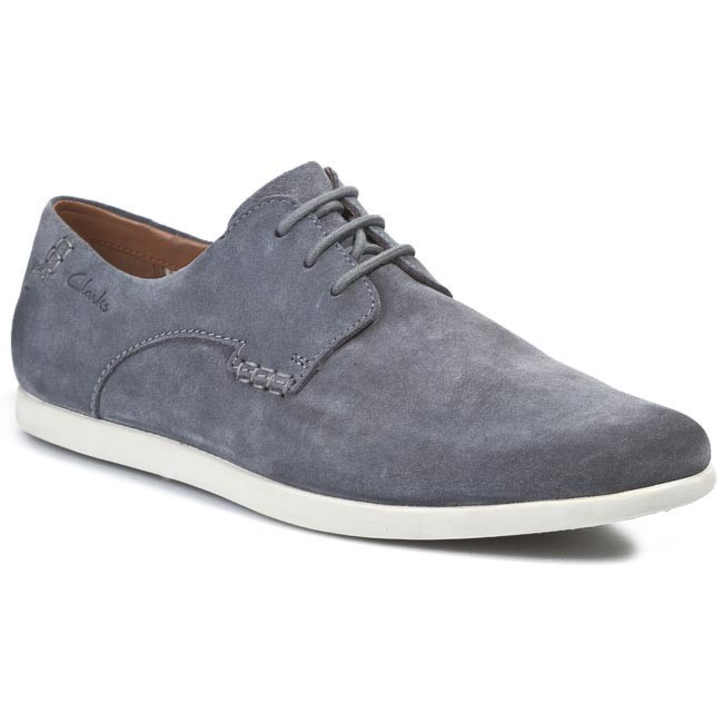 Shoes CLARKS - Newell Edge 203577897 Grey Suede