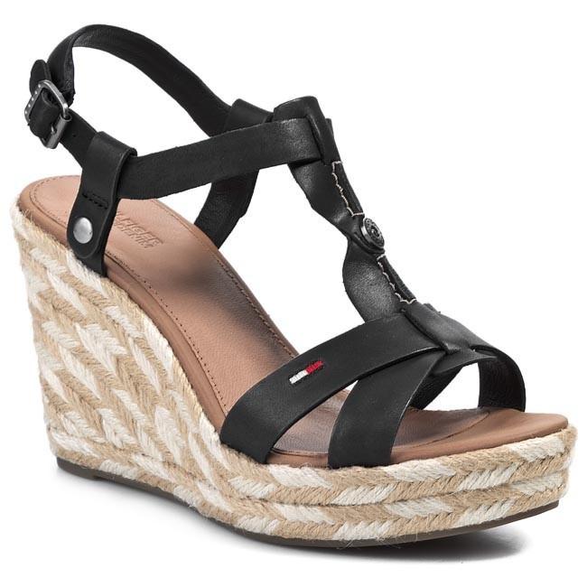 Sandals TOMMY HILFIGER - EN56817077 Black 990