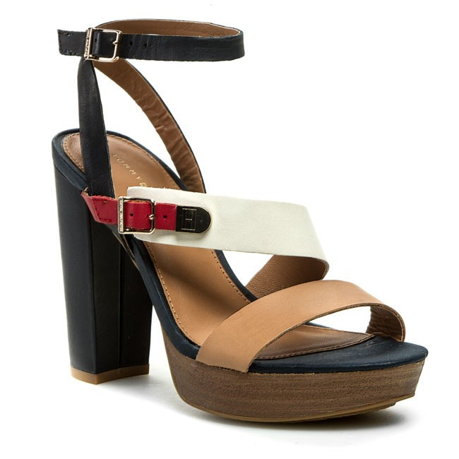 Sandals TOMMY HILFIGER - Farah 7A FW56816778 Midnight/Tango Red/Whisper White 403