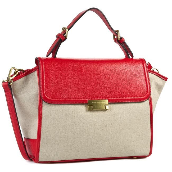 Handbag TOMMY HILFIGER - Edie Canvas Satchel BW56923136 807