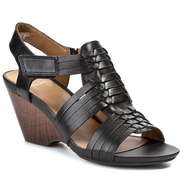 Sandals CLARKS - Popple Tango 203580524 Black Leather