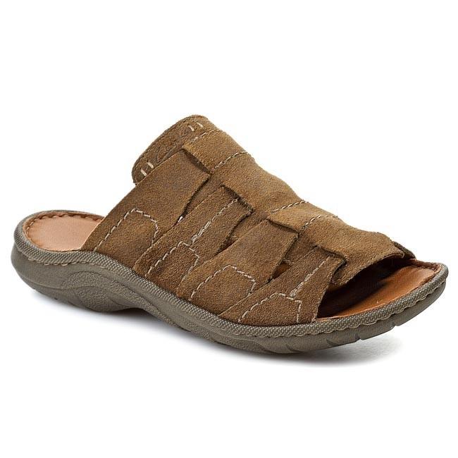 Slides CLARKS - Woodlake Easy 203581437 Brown Suede