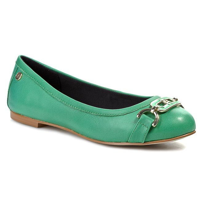 Flats TOMMY HILFIGER - Anne 20A FW56816822 Jolly Green 313