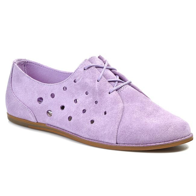 Shoes CLARKS - Glitter Chase 203576734 Lilac Suede