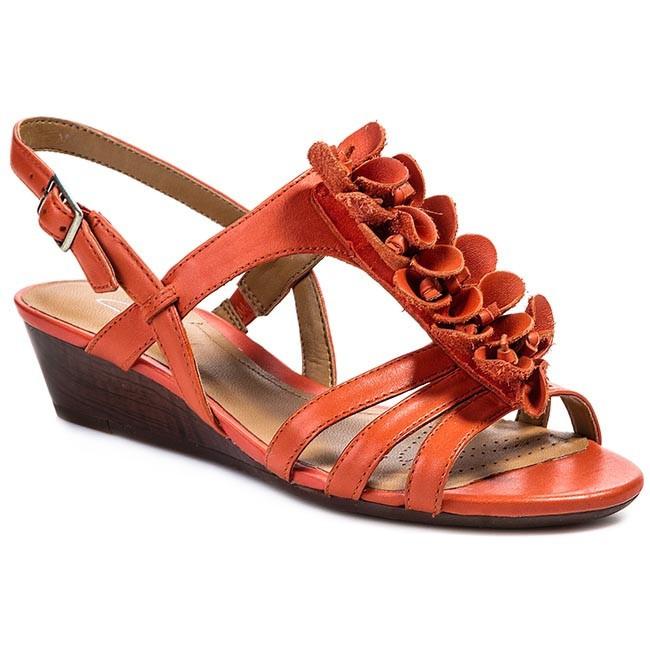 Sandals CLARKS - Playful Gift 203582604 Orange Leather