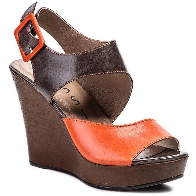 Sandals NESSI - 50404 Brąz/Pomarańcz 112
