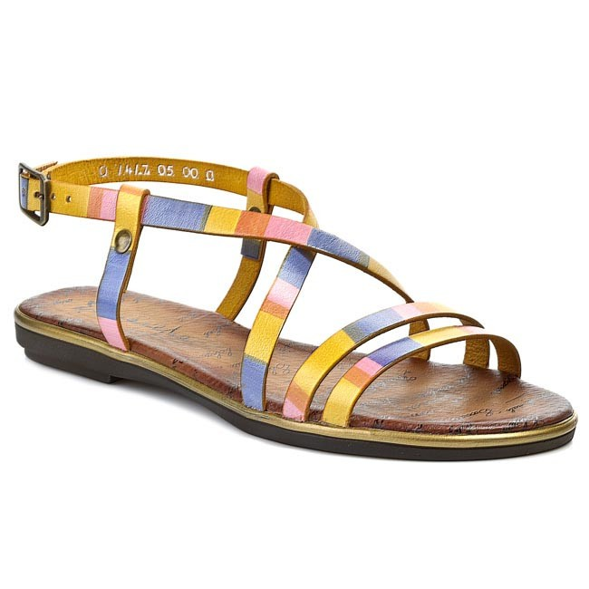 Sandals MACIEJKA - 01417-05/00-00 Yellow/Red