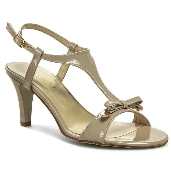 Sandały SAGAN - 2292 Ciemny Beżowy Lakier