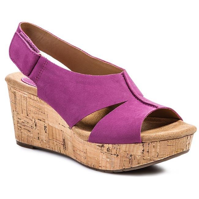 Sandals CLARKS - Perfect Music 203582254 Pink Nubuck