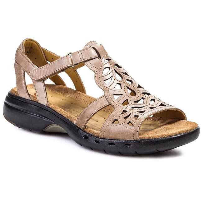 Sandals CLARKS - Un Sugar 203546824 Light Tan Leather
