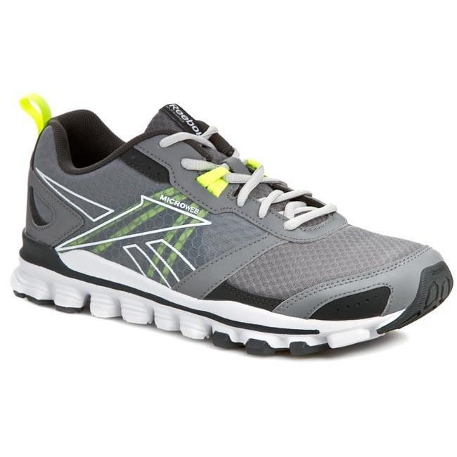 Deformación identificación profundamente  Shoes Reebok - Hexaffect Run M47776 Grey/Gravel/White/Yellow - Indoor -  Running shoes - Sports shoes - Men's shoes   efootwear.eu