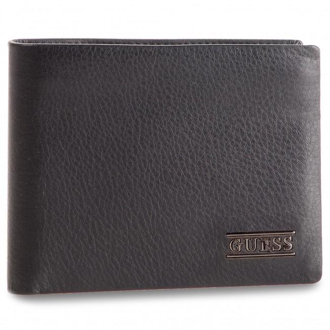 Large Men's Wallet GUESS - New Boston Slg SM2510 LEA24 BLA