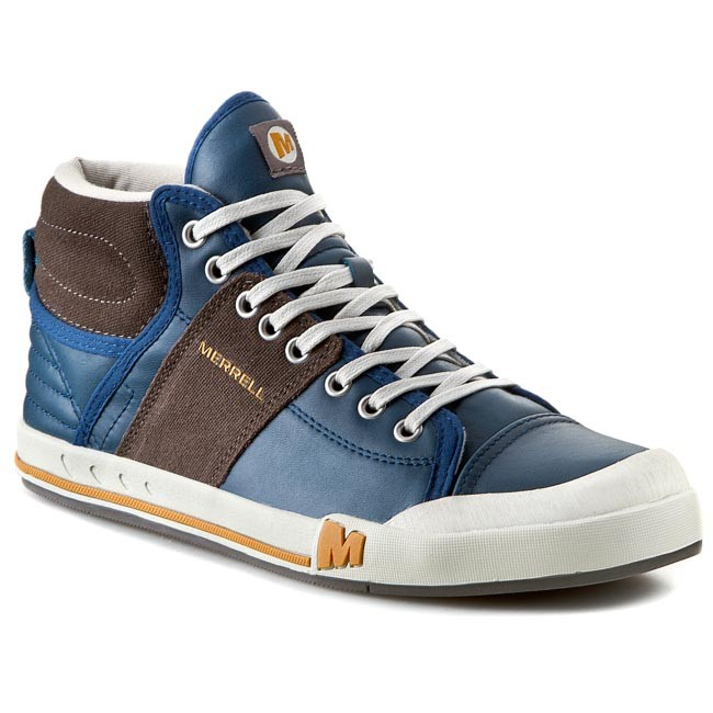 305c6fb5cc657 Boots MERRELL - Rant Evo Mid J68995 Blue - Sneakers - Low shoes ...