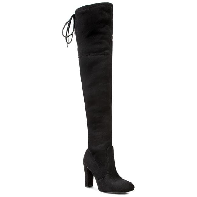 Over-Knee Boots R.POLAŃSKI - 0761 Czarny Zamsz