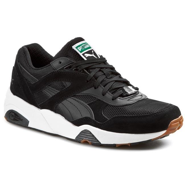 Shoes PUMA - Trinomic R698 White On White 358142 02 Black