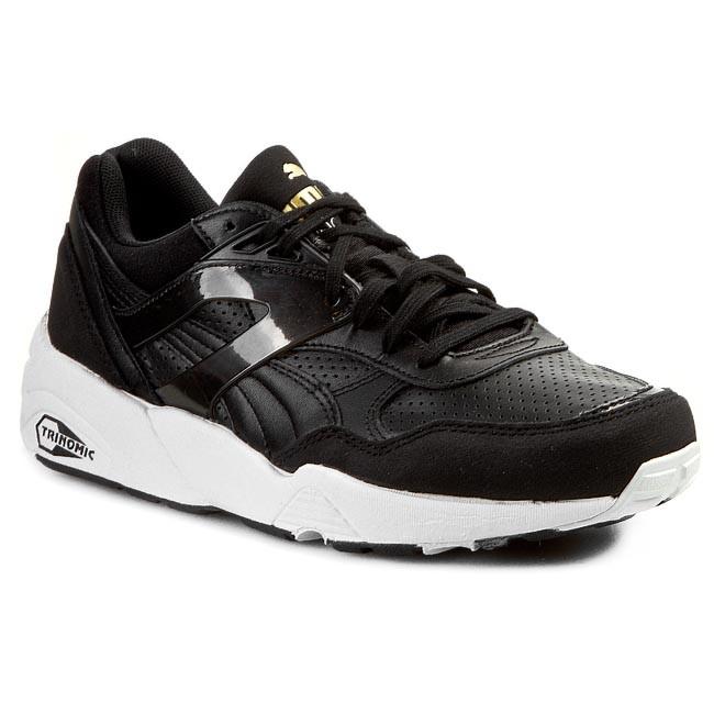 Shoes PUMA - Trinomic R698 White On White 358291 02 Black