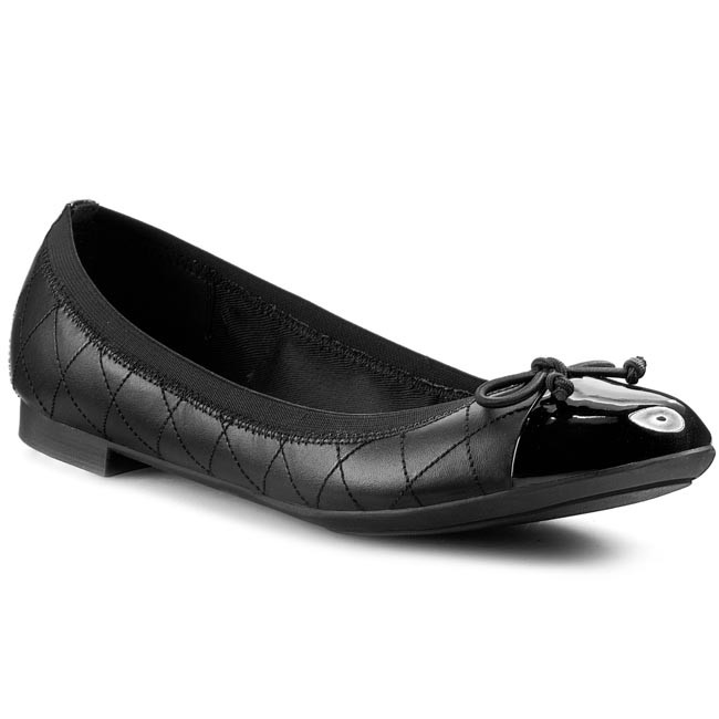 Flats CLARKS - Carousel Curl 261009774 Black Leather