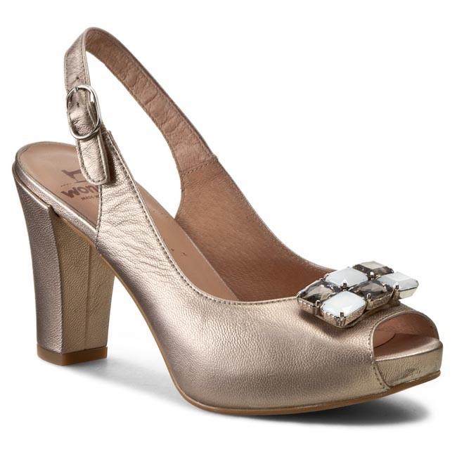 Sandals WONDERS - M-9141 Metalcris Rame