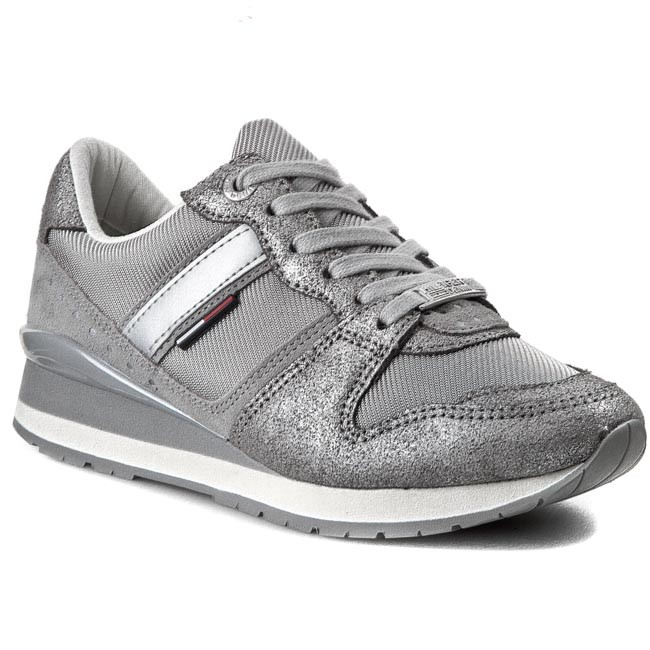 Sneakers TOMMY HILFIGER - DENIM Land 1C EN56818749 Silver 483
