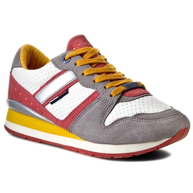 Sneakers TOMMY HILFIGER - DENIM - Land 1C EN56818749 Folkstone Gray/Faded Rose 053