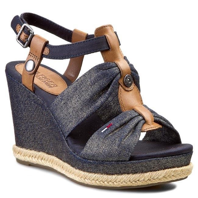 Sandals TOMMY HILFIGER - DENIM - Lively 25C EN56818681 Metallic 368
