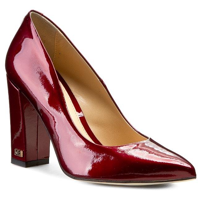 High Heels SOLO FEMME - 14101-02-D46/000-04-00 Dark Red