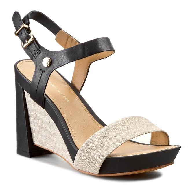 Sandals TOMMY HILFIGER - Phoebe 2C FW56818723 Black/Natural 990