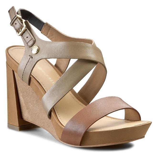 Sandals TOMMY HILFIGER - Phoebe 1A FW56818721  Summer Cognac/Sand 929