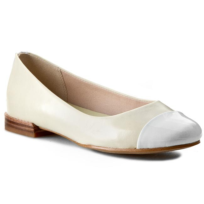 Flats CLARKS - Festival Gold 261065034 Pale Yellow Comb