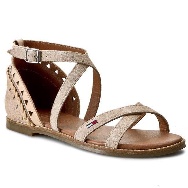 Sandals TOMMY HILFIGER - DENIM - Suky 2C EN56818701 Nude 288