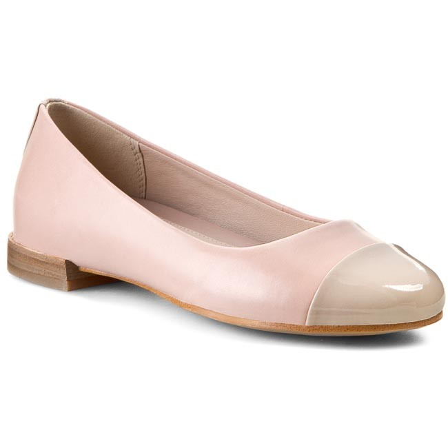 Flats CLARKS - Festival Gold 261065014 Dusty Pink