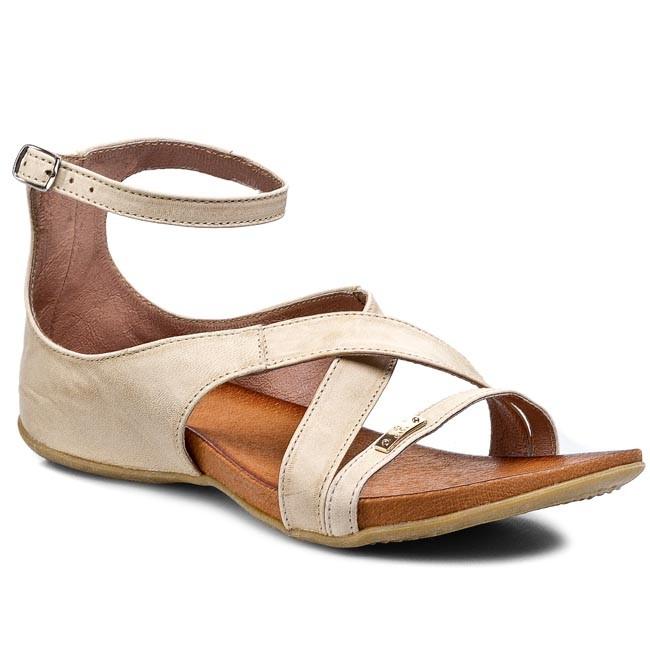 Sandals CARINII - B1965  Kremowy