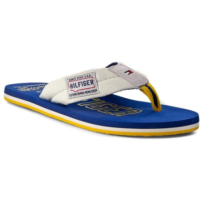 Slides TOMMY HILFIGER - Barney 4D FM56818870 Whisper White/Monaco Blue 121