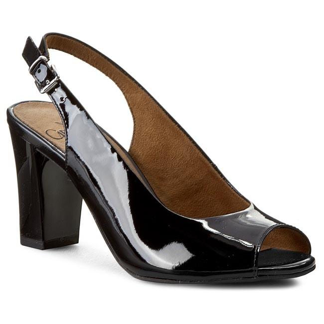 Sandals CAPRICE - 9-29611-24 Black Patent 018