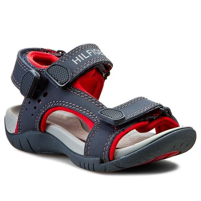 Sandals TOMMY HILFIGER - Safari 1A FU56818993  Midnight/Tango Red 611