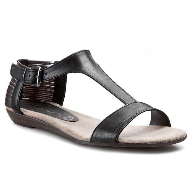 Sandals TAMARIS - 1-28105-24 Black/Platinium 019